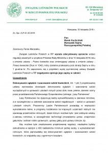 30.11.2016_ZLPwRP_stanowisko_Prawo łowieckie_1